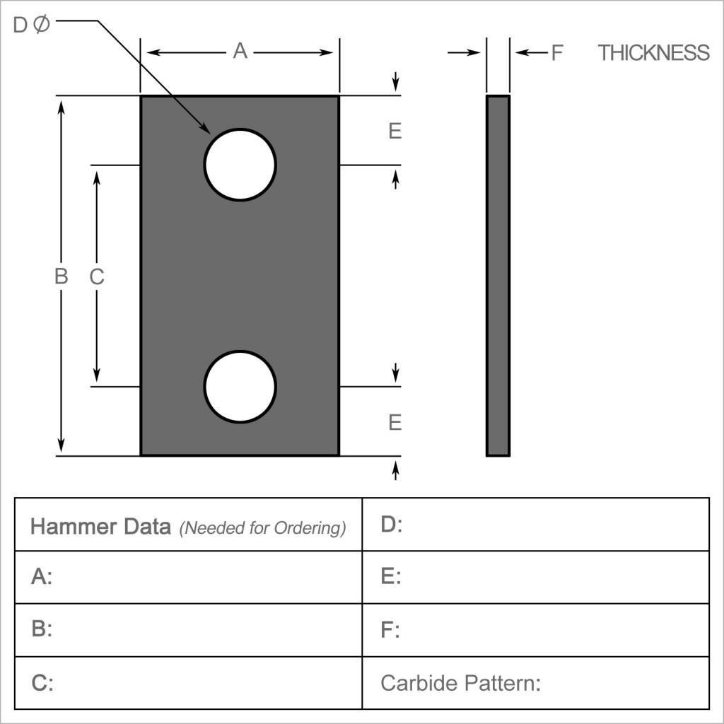 14   Hammer Data Needed for Ordering copy